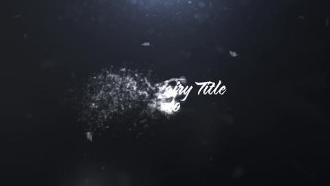 Magic Fairy Title or Logo Reveal After Effects Template