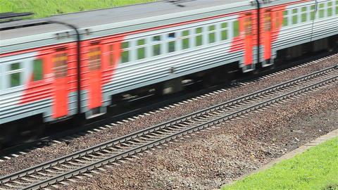 A passenger electric train passing Footage