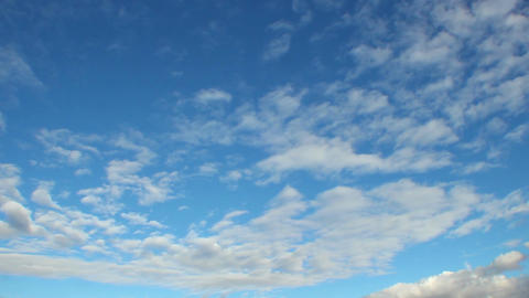 Classic cloud time-lapse, blue sky, clouds pass sunny day skies Footage