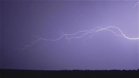 Thunder weather changes, lightning strikes, rains showers, sound Footage