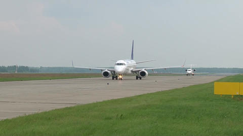 Planes at the airport Footage