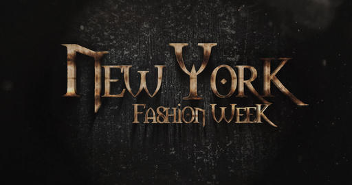 New York Fashionweek Fantasy Title Design Live Action