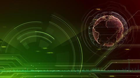 AI digital data network computer technology 3D illustration background 5 13 green Animation