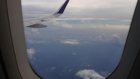 aerial view of landscape from airplane window. aerial footage of land. view of the earth from the Live Action