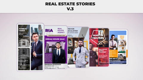 Real Estate Stories v 3 After Effectsテンプレート
