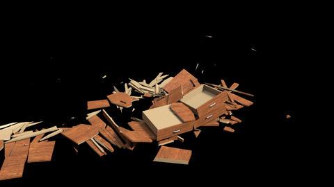 Desk Shatter Animation