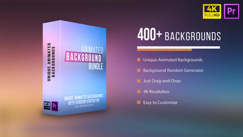 Animated Background Bundle (Generator) Motion Graphics Template