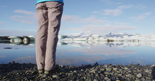 Iceland nature landscape Jokulsarlon glacier lagoon visiting tourist landmark Live Action