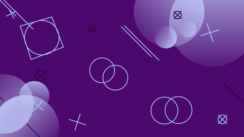 Simple looped background with geometric shapes Animation