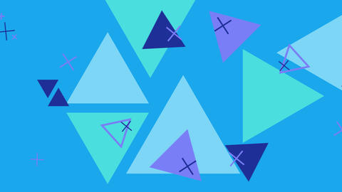 Simple looped background with geometric shapes GIF