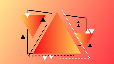 Banner of gradient triangles and shapes Animation