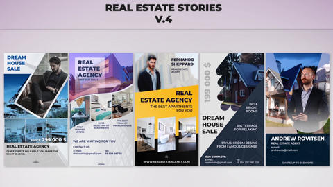 Real Estate Stories v 4 After Effectsテンプレート