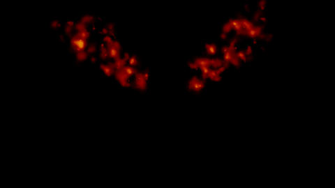 Flame Fire Stage effects_cross_alpha Animation