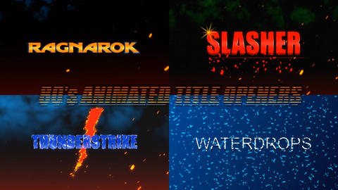 80s Animated Retro Title Openers After Effects Template