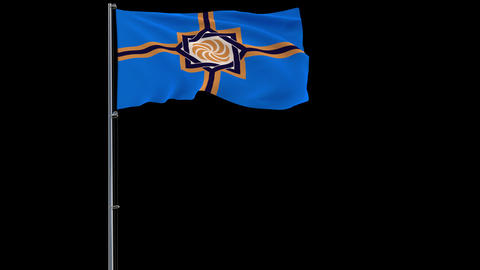 Western Armenia flag on transparent background, 4k footage with alpha Animation