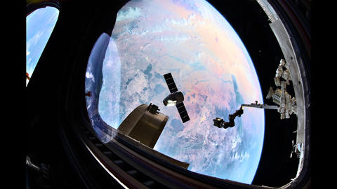 International Space Station - Circa 2019: Earth from space. Time lapse of over Live Action