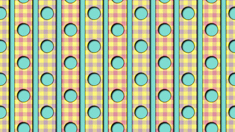 retro animated pattern 3d render animation Animation