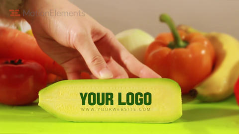 Vegetables Logo Titles After Effects Template