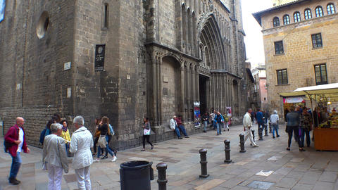 The church, temple in Barcelona. Spain. 4K GIF