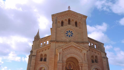 Famous Ta Pinu Shrine - a popular church on the Island of Gozo Live Action