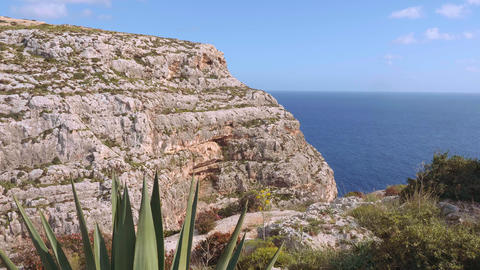 Blue Grotto in Malta is a famous landmark on the island Live Action