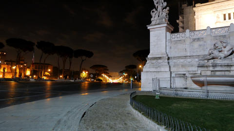 Via dei Fori Imperiale view of the Coliseum. Rome, Italy Footage