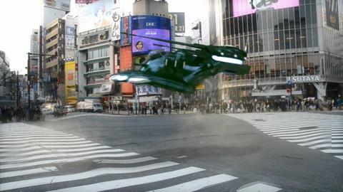 War tank in tokyo Footage