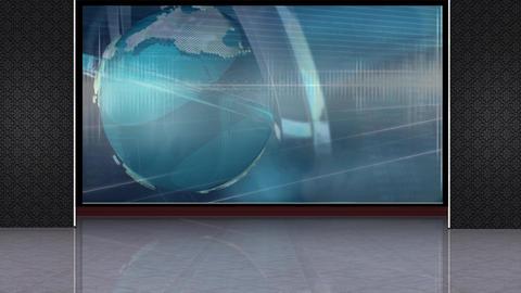 News TV Studio Set 222- Virtual Background Loop Footage