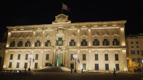 Famous Castille in Valletta - the home of the Maltese Prime Minister Live Action