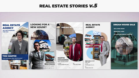 Real Estate Stories v 5 After Effectsテンプレート