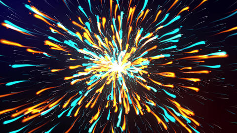 Multi Color Particle Explosion Animation