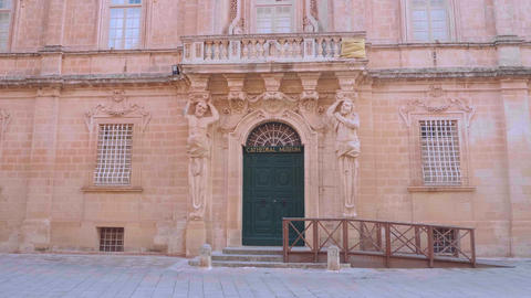 Cityscapes of Mdina - the former capital city of Malta Live Action
