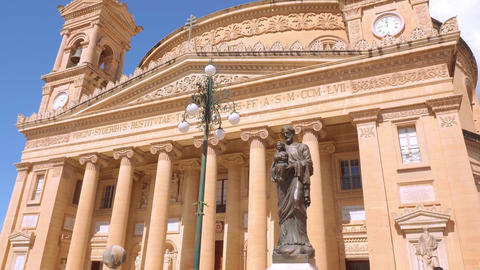 Mosta Rotanda - famous cathedral on the Island of Malta - MALTA, MALTA - MARCH 5 Live Action