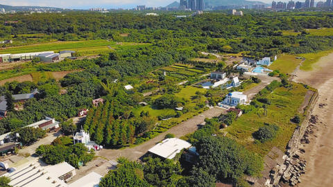 Aerial photography of Tamsui wedding photography base in New Taipei City, Taiwan Live Action