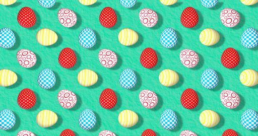 Colorful Background with Easter Eggs. Festive backdrop for instagram greeting Animation