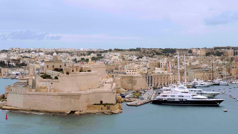 Forti Sant Anglu - a famous landmark in the Three Cities of Valletta Malta - Live Action