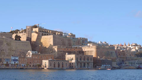 Boat trip along the waterfront of Valletta Live Action