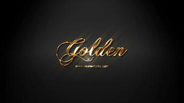 Gold Silver Platinum Glossy Logo Reveal Template After Effectsテンプレート