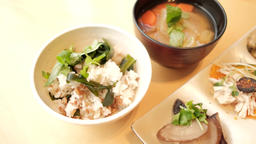 Japanese traditional food rice Live Action