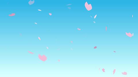 青空と美しい桜吹雪【ループ】 After Effectsテンプレート