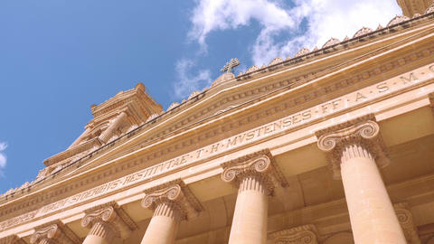 Mosta Rotunda - famous cathedral on the Island of Malta Live Action