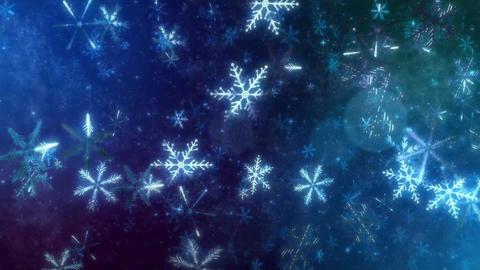 4K CGBG SeamlessLoop Snowflakes Animation