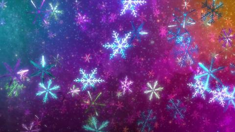 4K CGBG SeamlessLoop Snowflakes Halloween Animation