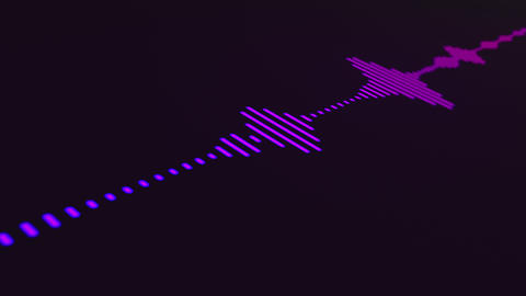Colorful audio spectrum simulation Animation