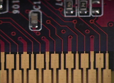 A of a computer circuit board Stock Video Footage