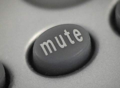 A of the mute button on a phone Stock Video Footage