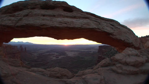 Mesa Arch in Canyonlands National Park, Utah Footage