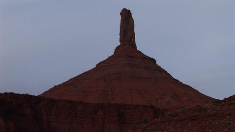 A remarkable rock-formation in the American Southwest Stock Video Footage