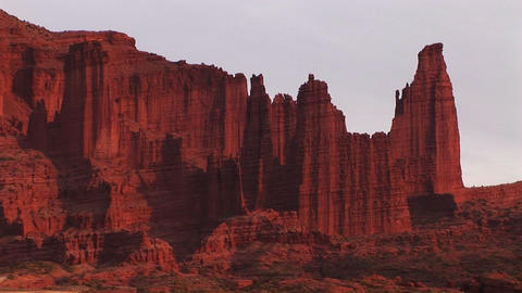 A remarkable cliff formation stands in the American... Stock Video Footage