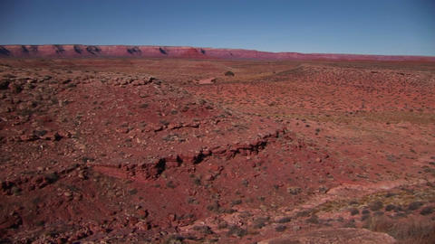 A long shot of the Southwest desert Footage